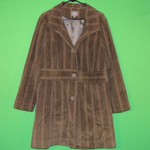 J. Jill Womens L Green Corduroy Jacket / Coat